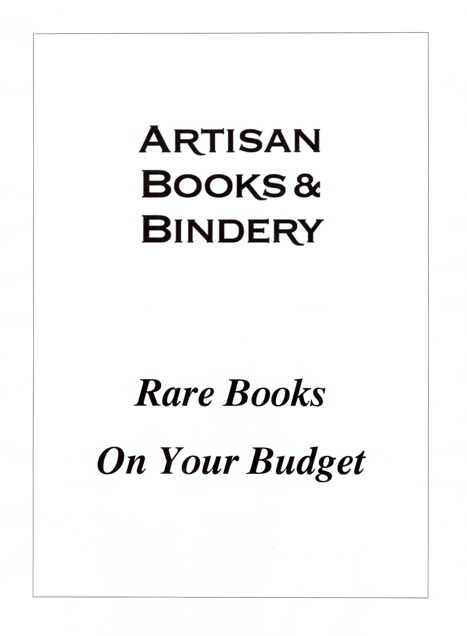 Rare Book Subscriptions