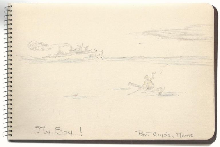 Maine World War II Cartoon Sketchbook