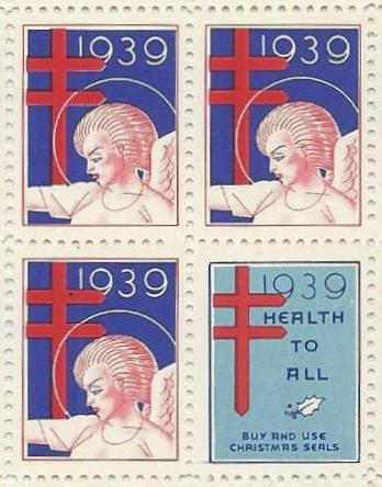 Christmas Seal Stamps 1939 [Rockwell Kent]. Rockwell Kent.