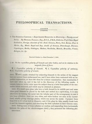 """Experimental Researches in Electricity -- Twenty-Second Series"" (Philosophical Transactions of..."