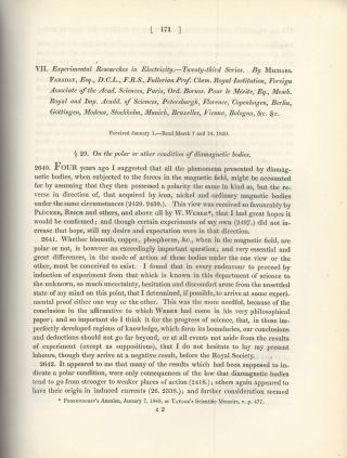 """Experimental Researches in Electricity -- Twenty-Third Series"" (Philosophical Transactions of..."