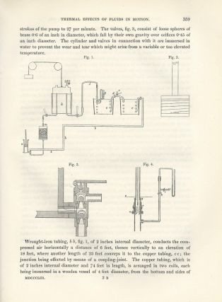 "JOULE-THOMSON EFFECT: ""On the Thermal Effects of Fluids in Motion"" (Philosophical Transactions of the Royal Society of London, Vol. 143 for the Year 1853 Part I & II, pp. 357-365)"