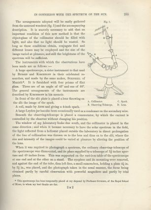 """Researches in Spectrum-Analysis in Connexion with the Spectrum of the Sun. I & II"" (Philosophical Transactions of the Royal Society of London, Vol. 163 for the Year 1873, pp. 253-279, 639-658)"