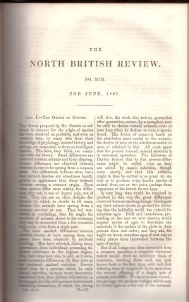"CORRECTION TO DARWIN'S THEORY ""The Origin of Species"" (The North British Review No. 92 pp...."