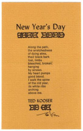 New Year's Day. Ted Kooser
